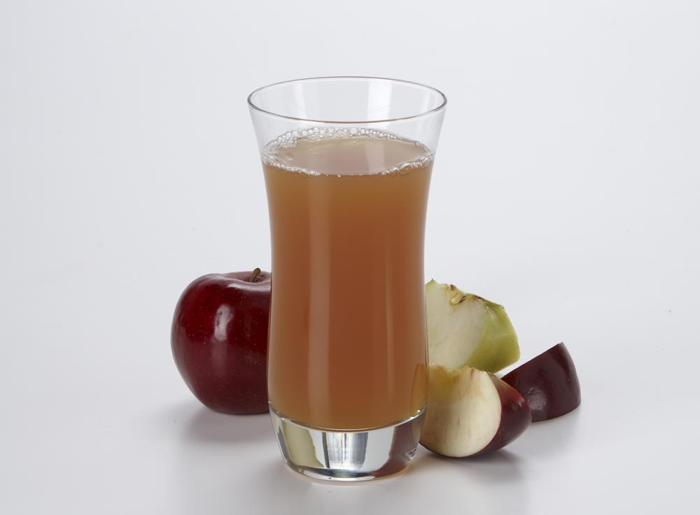 Glass of apple cider and fresh apples