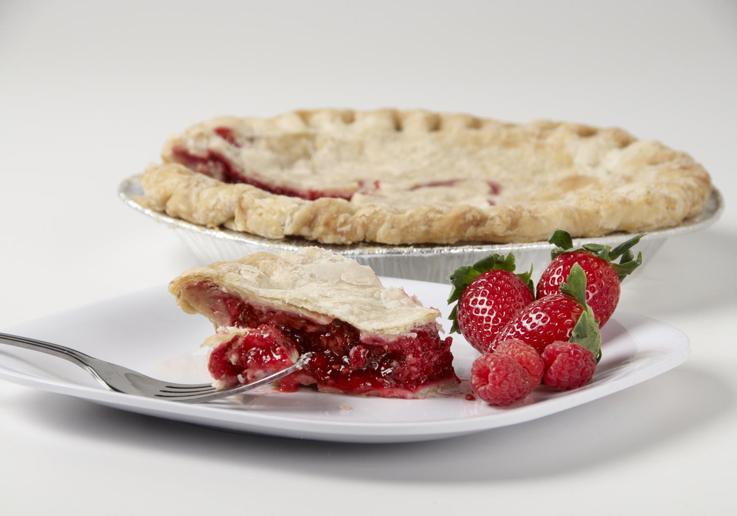 strawberry-raspberry pie